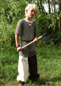 Kettenhemd für Kinder, verzinkter Stahl Mass 128