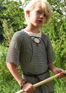 Kettenhemd für Kinder, verzinkter Stahl, Mass 164
