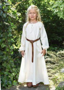 Wikingerkleid Unterkleid für Kinder, Natur.