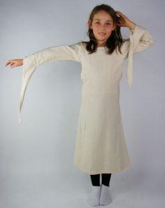 Mittelalter Mädchenkleid mit Trompetenärmeln