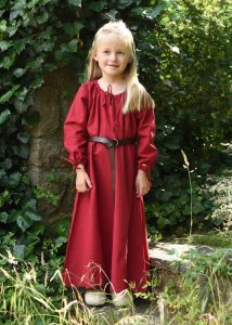 Wikingerkleid Unterkleid für Kinder, rot.