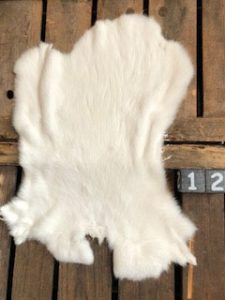 Kaninchen Fell Lichte Farbe Large +/- 45 x 30 cm