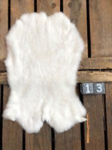 Konijnenvacht Lichte kleur Large +/- 45 x 30 cm