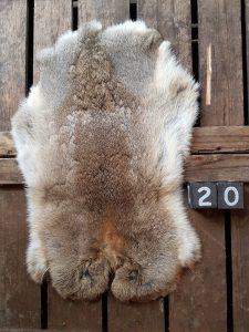 Konijnenvacht Wildkleur Large +/- 45 x 30 cm