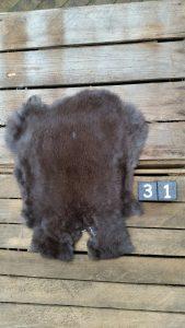 Konijnenvacht Donkere kleur Large +/- 39 x 29 cm