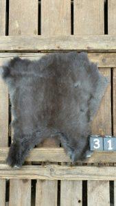 Konijnenvacht Donkere kleur Large +/- 30 x 30 cm