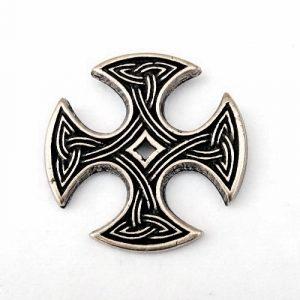 Kruis van Nevern Zilverkleur met koord