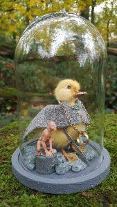 Entenküken Präparat ` Frodo von Herr Der Ringe` Ausgestopft - Tierpräparation - Präparat - Taxidermy