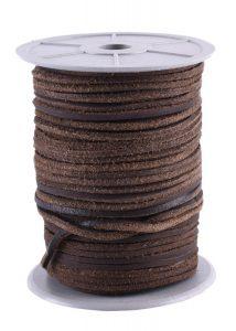 Vierkant-Lederriemen aus Rindsleder Braun, pro meter, 2,8 mm