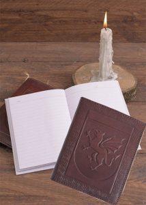 Drachen Notizbuch mit Schutzeinband aus geprägtem Leder