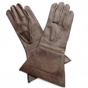 Lederen Paardrijders handschoenen bruin