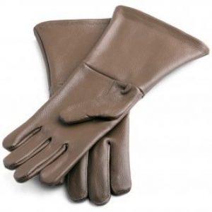 Historische Lederhandschuhe - braun