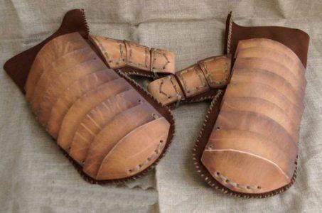 Wikinger Pantzer Handschuhe Leder