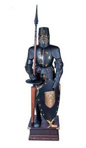 Middeleeuws 16e eeuws harnas zwart