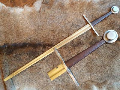 Gotisch 1.5 hand zwaard XIII-XIV bruin