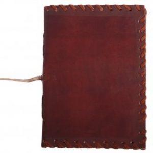 Mittelalterliches Ledergebundenes Journal mit gesäumten Rand