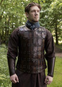 Mittelalterliche Brigantine, Lederrüstung / Brustpanzer, in verschiedene Größen.