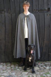 Mittelalter Umhang in Grau ohne Mutze