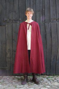 Mittelalter Umhang in Rot ohne Mutze