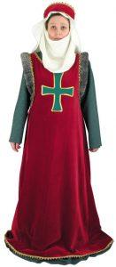 Middeleeuws Dames Kostuum met Kruis