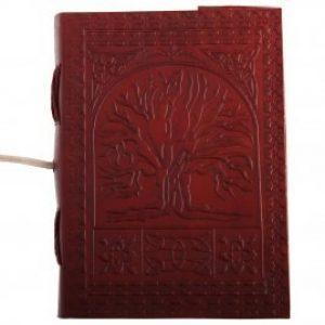 Mittelalterliches Leder Notizbuch Baum des Lebens