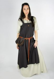 Wikinger Damen Überkleid in Braun