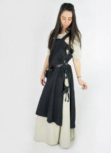 Middeleeuwse Over jurk in zwart