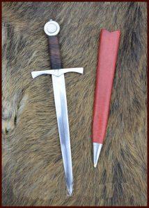 Middeleeuwse dolk voor Soldaten en Boogschutters 14e eeuws