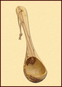 Scheplepel van Olijfhout 26 cm lang