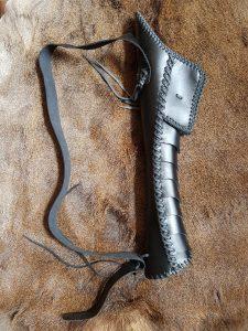Pijlenkoker-Quiver voor op de rug in Zwart