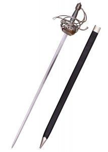 Pappenheimer Korbrapier mit drahtumwickeltem Griff, 104 cm