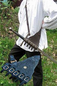 Rapier Schede versiert voor aan de Schouder in bruin of zwart