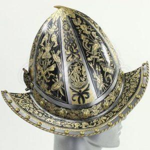 Museum Replik Spanischer Morion Helm, 16Jh.