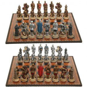 Mittelalter Ritter in Rüstung Schachfiguren
