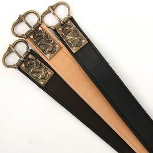 Ledergürtel mit Schnalle Keltischer Drachen Replic 7Jh.