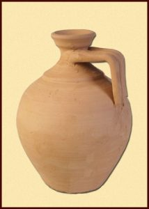 Römischer Enghalsflasche aus Ton