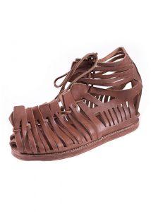 Römische Sandalen, Caligae, braun