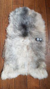 Schapenvacht grijs ca. 110x60 cm