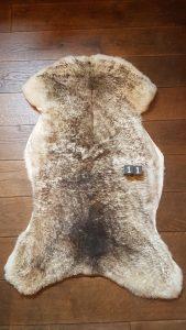 Schapenvacht Mouflon XXL +/- 120 x 65 cm
