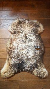 Schapenvacht Mouflon XXL +/- 110 x 70 cm
