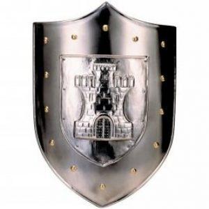 Mittelalter Schild mit Burg in 3D