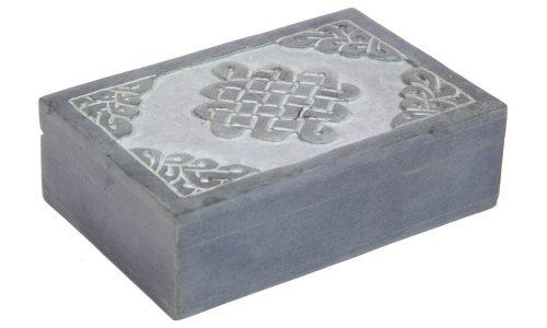 Sieraden Kistje van Speksteen met Keltische Knoop