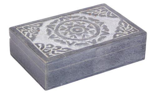 Sieraden Kistje van Speksteen met Keltische Zon