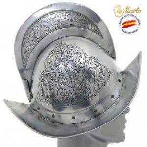 Spanischer Morion Helm, 16Jh - 17Jh. gravierd