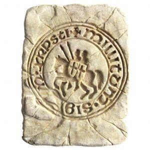 Symbol der Tempelrritter aus Stein 20x15cm