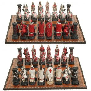 Ritterturnier Templerritter Schachfiguren