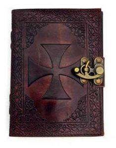 Mittelalter Templar Lederbuch