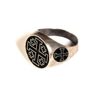 Tempeliers Ring met zwart