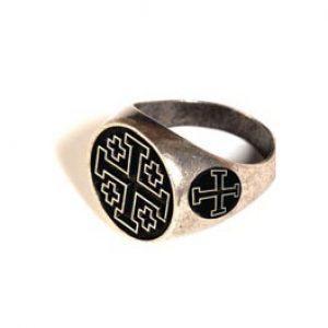 Tempelritterorden Ring mit Kreuz