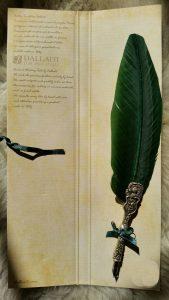 Schreibfeder mit Ritter Pen in grün